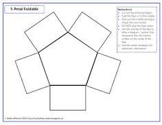 5 petal foldable