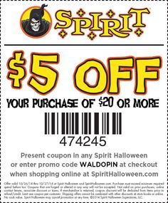 coupon for halloween costume at party city