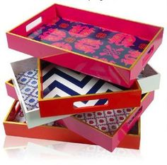 Printed lacquer trays