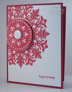 Love a good Medallion Birthday card ... clean and simple!