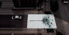 Green Pedestrian Crossing in China Creates Leaves from Footprints: http://www.thisiscolossal.com/category/design/