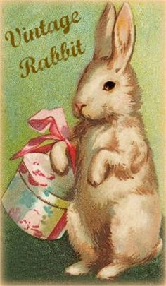 Vintage Easter-reminds me of peter rabbit, the book my grandma would always read to us before bedtime*when we'd spend the night*