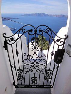 Sea Gate, Santorini, Greece | Travel to beautiful places