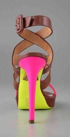 shoes, fashion, heel, pump, sandal, neon colors, divas, accessories, eyes