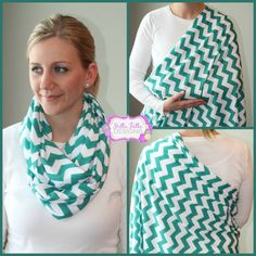 SALE Hold Me Close Nursing Scarf - Teal Chevron, Nursing Cover, Infinity Scarf on Etsy, $20.00