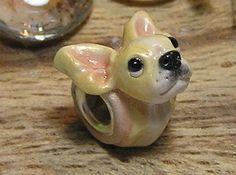 European Bead Chihuahua Nanjodogz Polymer Clay Dog Charms. $35.00, via Etsy.