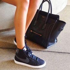 mesh sneaker, handbag, sport fashion, blazer, blue, nike shoes, sneakers, nike air max, black