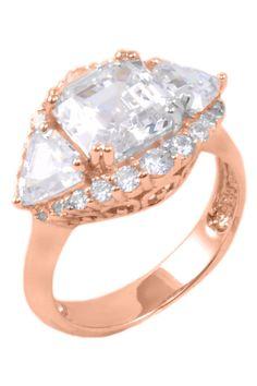 Rose Gold CZ Ring. Love rose gold!