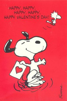 Happy Valentines Day! Peanuts/Snoopy Vintage Valentine