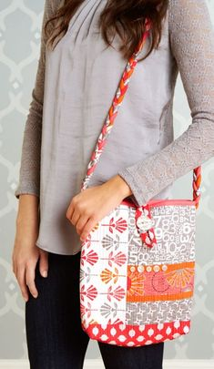 Quilts and More Spring 2014 | AllPeopleQuilt.com: Bag made from Gracie Girl fabric by Lori Holt for Riley Blake Designs #graciegirl #loriholt #rileyblakedesigns