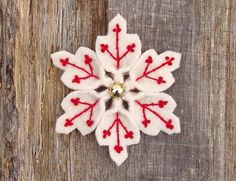 Red snowflake by WanderingLydia