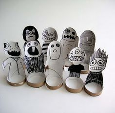 Toilet paper roll people..love it!