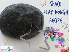 Space Play Dough Recipe- super simple!