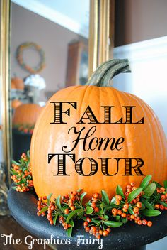 Fall Home Tour - The Graphics Fairy.
