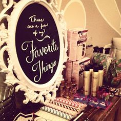 Favorite Things Party! Cool idea for bridal party girls night! Say you have 5 girls in your bridal party Each girl picks one of their favorite products and gets 6 of each, 1 for the bride, 1 for themselves and 1 for each of the other girls. At the end of the night each girl is leaving with a bag of goodies!