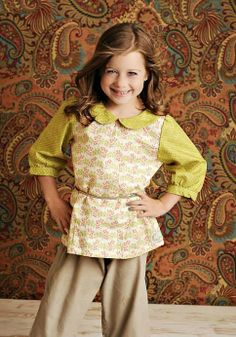 Swanky Baby Vintage - Peter Pan Top - Spanish Moss **BACK TO SCHOOL | In Stock - One Good Thread