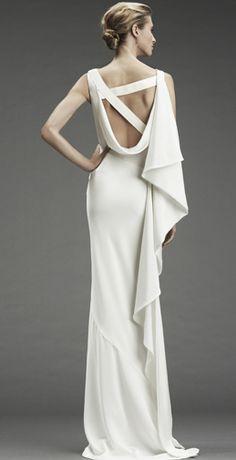Nicole Miller evening dresses, wedding dressses, dress fashion, evening gowns, modern dress, gown dresses, nicole miller, white gowns, back details