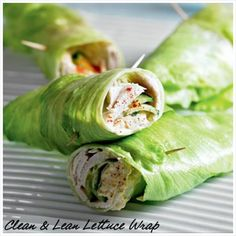 Clean-and-Lean-Lettuce-Wrap-INGREDIENTS-Serves 4 4 leaves iceberg lettuce 4 slices roast turkey 1/2 cucumber, sliced 250g hummus sprinkle of paprika METHOD Top a lettuce leaf with a slice of turkey, cucumber, hummus and paprika, then, as if it were a sandwich, wrap it up with another piece of lettuce. Repeat with the
