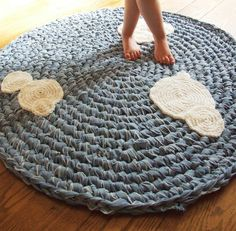 Denim Upcycled Crochet Rug - Instructions <3