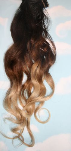 Ombre Hair Extensions 22 long Human Hair by Cloud9Jewels on Etsy, $26.00