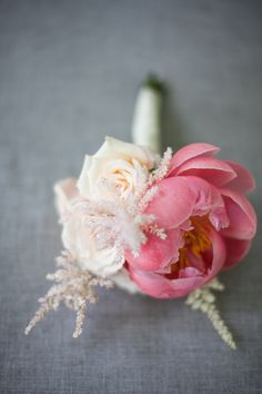 Pink peony & blush rose wedding nosegay. Photography: meganclouse.com Florist: chelseabowman.com