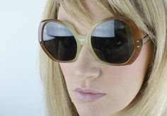 Vintage 60's Overized Jackie O Sunglass Frames on Etsy, $78.00