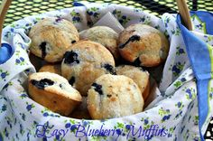 Easy Blueberry Muffins