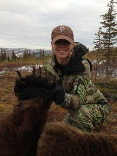 Prois Field-Staffer, Crystal Ivy and her 2013 Griz....  Crystal utilized the Prois Generation X and Xtreme lines for this extreme hunt!    www.proishunting.com