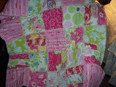 Step by step instructions - how to make a simple rag quilt - by beffie48: Lets Make a Rag Quilt - #quilting #sewing #crafts pb†å
