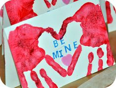 Easy Valentines Hand Print Craft