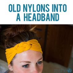 Turn your Old Nylon into a Headband  #howdoesshe #headband #diy #quickheadband #easyheadband #oldnylon howdoesshe.com