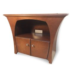 Media Console in Caramel Stain by Dust Furniture*