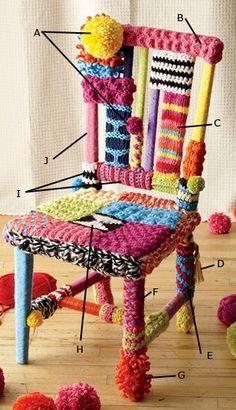 My Yarn bomb chair