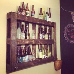 A Pallet beer rack.