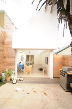 living space to patio
