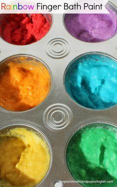 Rainbow Finger Bath Paint by FSPDT