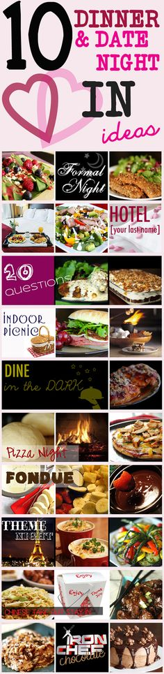 10 Fun & Romantic DATE NIGHT IN ideas!!! For those nights you just can't find a babysitter...