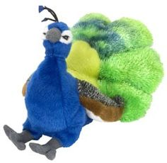 Cuddlekins Mini Peacock (8-inch) at theBIGzoo.com, a family-owned toy store.