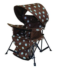 Brown & Blue Go With Me Canopy Chair by Kelsyus on sale today!