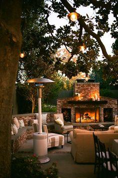 Elegant Fireside. Beautiful outdoor space!