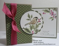 SU! A Z-fold card using Beautiful Season stamp set in Rose Red, Crumb Cake, Certainly Celery and Always Artichoke - Wendy Hawkinson