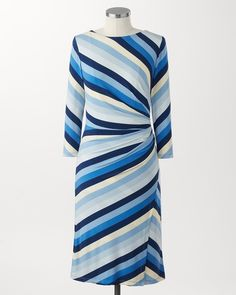 Laguna stripes dress | Coldwater Creek