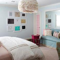 Pink & Blue Teen Bedroom