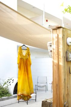 You need to see a yellow wedding dress with a matching cathedral veil today