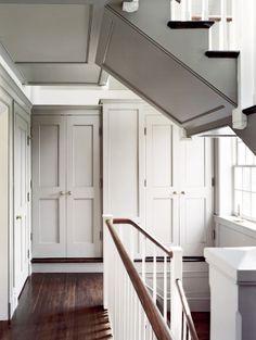 hall closet, hallway storage, cupboard, closet doors, floor, donald lococo, builtin cabinet, hous, lococo architect
