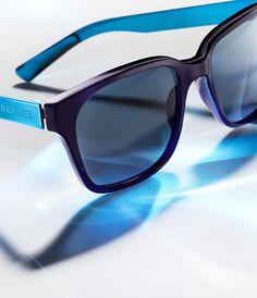 Burberry Spark Sunglasses in black with contrast indigo blue arms