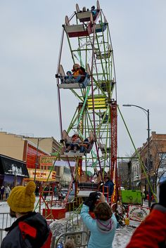Take a ride on the ferris wheel at the TCFF Winter Comedy Festival