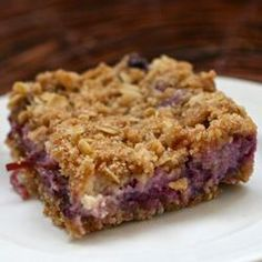 """Blueberry Oat Dream Bars 