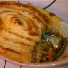 Irish Shepherd's Pie Allrecipes.com Making this for St Patty's Dinner tonight!  I looked at a lot of recipes, and I think this one is pretty authentic.  No cream of anything soup, for starters.
