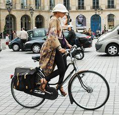 fashionable bike riding